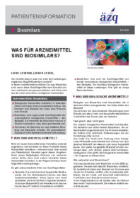 Patienteninformationen Biosimilars
